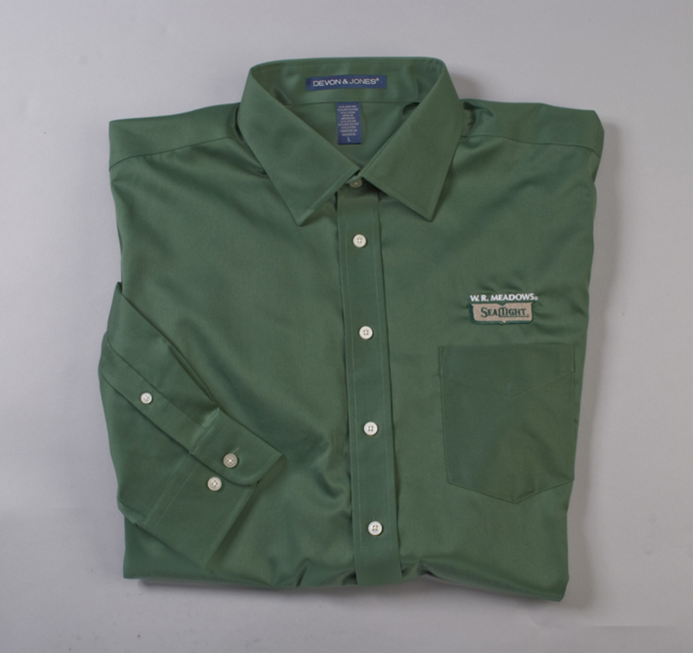 Shirt Green Long Button