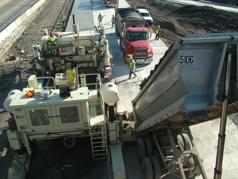 Concrete Pour Road Construction