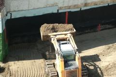MEL-DRAIN Installation Back-fill Wall